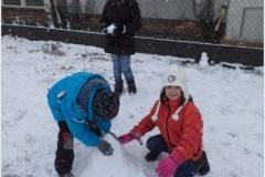 Hraní na sněhu