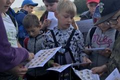 Žáci 4. A se učili v lese